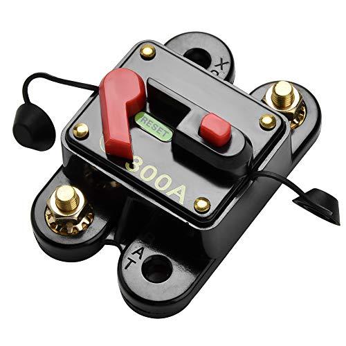 Preisvergleich Produktbild Qiorange 60-300A 60AMP 300AMP Auto Marine Boat Bike Stereo Audio Leistungsschalter Reset Sicherung 12V-24V DC (300A)
