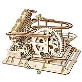 LDB SHOP Waterwheel Coaster Form - 3D Puzzle Spiel Lasergeschnittenes Holzpuzzle DIY Montieren Spielzeug für Kinder