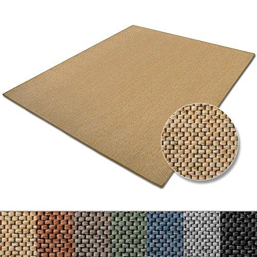 casa pura Teppich Sabang | viele Farben und Größen | Flachgewebe, Sisaloptik | Qualitätsprodukt aus Deutschland | GUT Siegel | für Wohnzimmer, Kinderzimmer, Flur etc. (Natur, 80x150cm)