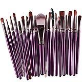 Hansee 20 Stück Make-up Pinsel Set Werkzeuge Make-up Toiletry Kit Wolle Make-up Pinsel Set (Lila)
