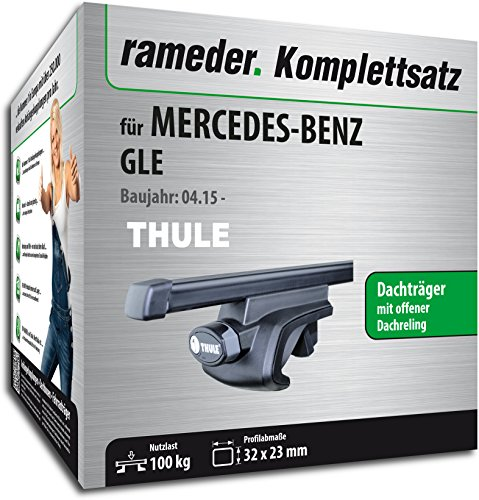 Rameder Komplettsatz, Dachträger SquareBar für Mercedes-Benz GLE (116012-13966-27)