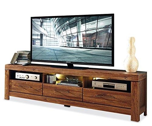 TV-Lowboard Fernsehschrank Fernsehtisch | Braun | Akazie | 200x60x54 cm