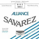 Savarez Saite für Klassik-Gitarre Concert Alliance 540 540 J. High tension. Blau<p><br>- Carbon. Stabilon versilbert<p><br>-