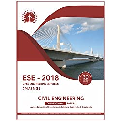 ESE 2018 UPSC Mains Civil Engineering Conventional Paper 1,Previous Conventional Questions with Solutions, Subjectwise and Chapterwise