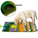 FREESOO Snuffle Mat Gatti Cani Feeding Mat Training Tappetino per Cani Lavabile Alimentazione Stress Rilascio Giocattoli Divertenti Quadrato Verde