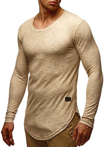 LEIF NELSON Herren Sweatshirt Hoodie Hoody LN6355 Beige