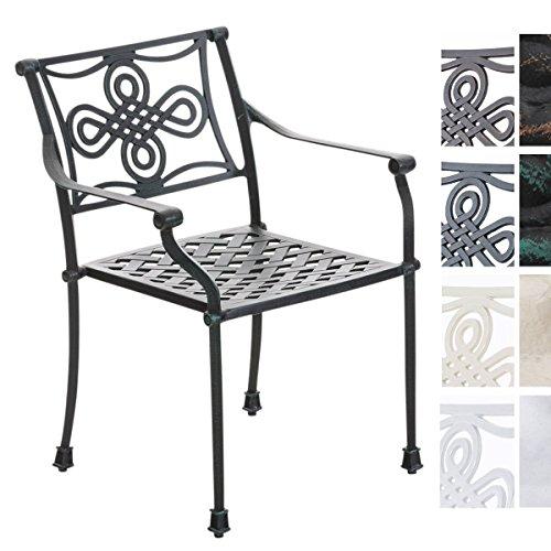 CLP Aluguss Garten-Stuhl SHAKTA, Metallstuhl stapelbar, Stapelstuhl Nostalgie antik-grün