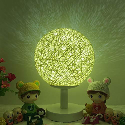 HermosaUKnight Veilleuse Boule en rotin Romantique avec Socle en Bois Veilleuse dimmable Décor à la Maison - Blanc Chaud