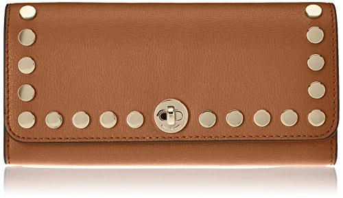 Michael Kors Damen Rivington Stud Large Wallet Geldbörse, Braun (Acorn), 2.5x8x18 cm (Drehverschluss Wallet)