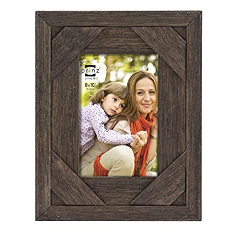 Prinz Barnes Antique Distressed Barnwood Frame, 8 by 10-Inch, Brown