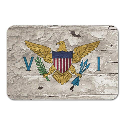 12x16 Inches Funny Sign Poster Plaque Rustic Distressed Virgin Islands Flag Home Business Office Sign ()