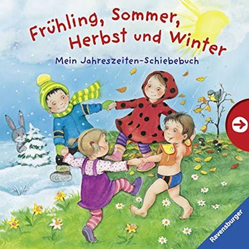 Frühling, Sommer, Herbst und Winter: Mein Jahreszeiten-Schiebebuch -
