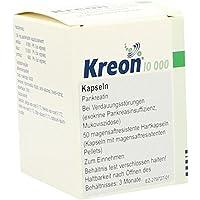 Preisvergleich für KREON 10.000 Hartkps.m.magensaftr.überz.Pellets 50 St Hartkapseln mit magensaftresistent überzogenen Pellets