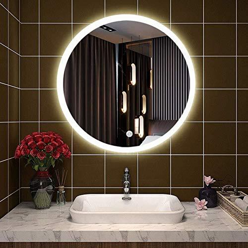 Wall Mounted ronda vanidad de maquillaje con espejo iluminado LED anti-vaho Características encendida...
