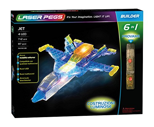 Laser Pegs 61013 Jet 6 in1 Building Set (Modell Race Car Kits)