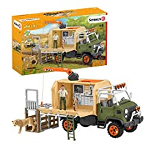 Schleich- Playset Camion pour Sauvetage d'animaux Wild Life, 42475, Multicolore