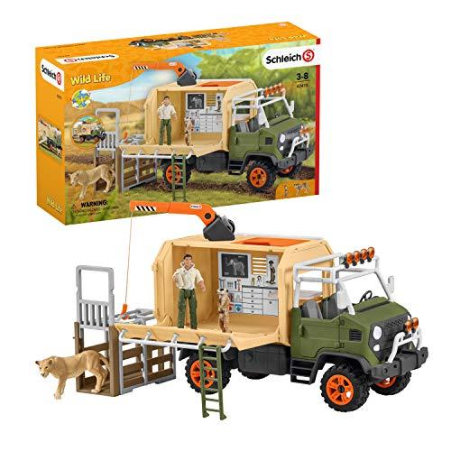 SCHLEICH 42475 Großer Truck Tierrettung Wild Life
