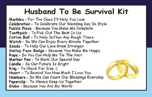 Wedding Gift For Husband To Be: Husband To Be Survival Kit In A Can. Humorous Novelty Gift