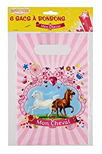 DYNASTRIB MON Cheval - Bolsas para caramelos (6 unidades, 23 x 15 cm), multicolor