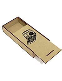 'Retro Radio' Wooden Pencil Case / Slide Top Box (PC00006501)