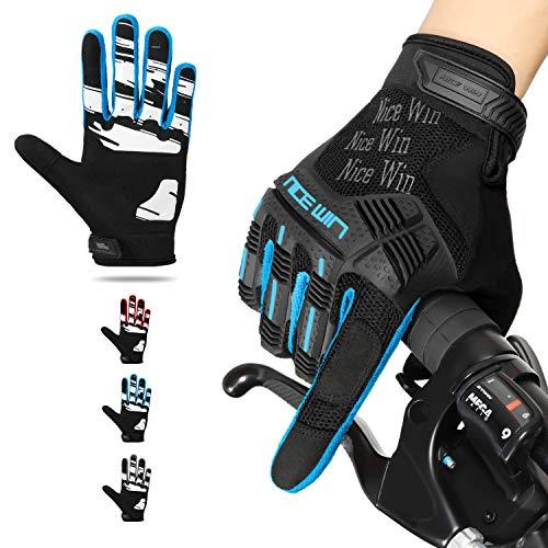Kansoom Guantes de Dedo completos (Viento cortante) (Azul, XL)