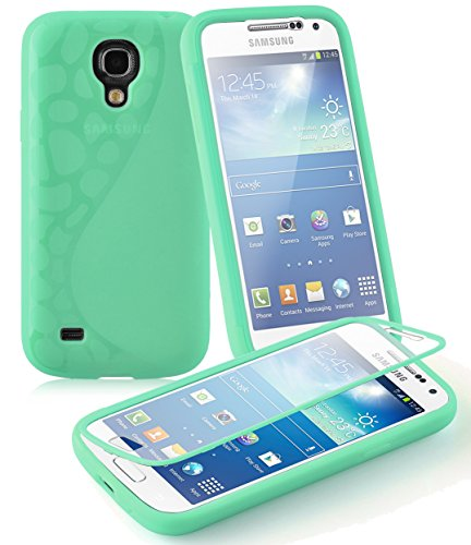 Preisvergleich Produktbild Cadorabo - TPU Silikon Schutzhülle (Full Body Rund-um-Schutz auch für Das Display) für > Samsung Galaxy S4 Mini < – (I9195) in Meer-GRÜN