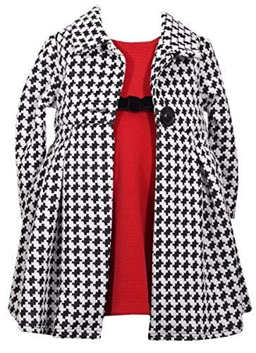Bonnie Baby Entzückender Pepita-Mantel + Kleid Gr. 74,80,86 Größe 80