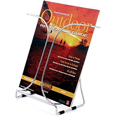 Source One Premium Metal Full Size 8 1/2 wide Brochure Holder, Magazine Rack (S1-78145) by SourceOne