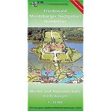 Friedewald, Moritzburger Teichgebiet, Spaargebirge: Wander- und Radwanderkarte mit Reitwegen. 1:30000