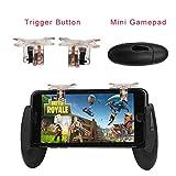 #4: Leoie Gaming Trigger Mobile Phone Gaming Controller Fire Button Gamepad Aim Key Joystick for PUBG