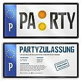 (40 x) Einladungskarten Geburtstag Nummernschild Auto Schild Plakette Einladungen