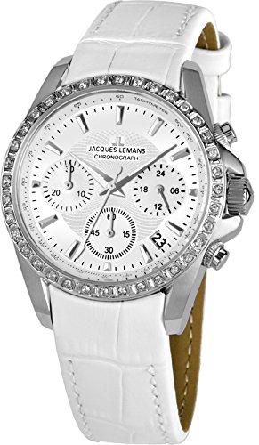 Jacques Lemans Damen-Armbanduhr Liverpool Analog Quarz Leder 1-1864A