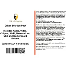 Drivers Solution Pack For HP Computers Installs Fix Audio Video Chipset Wi-Fi Network/Lan USB Motherboard Drivers- Windows XP Vista 7 8 32 64 Bit DVD Disk