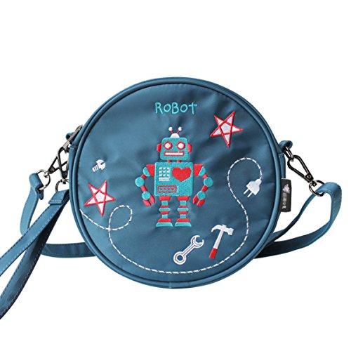 Womens Nylon Circle Schulter Handtaschen Crossbody Taschen Casual Umhängetasche Für Reisebüro Alle Saison Damen Mädchen,Green-19.5*6*19.5cm -
