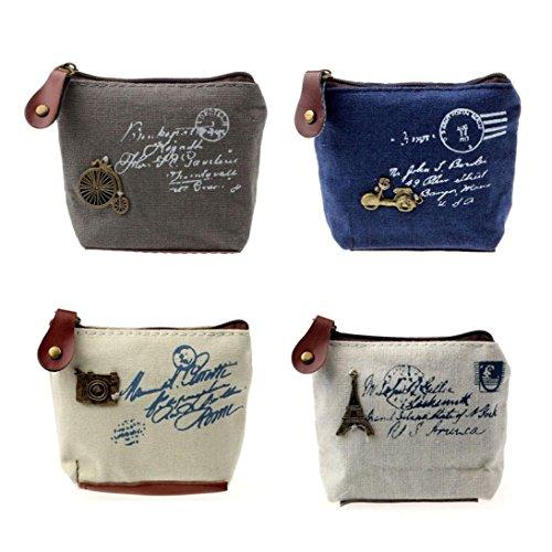 Coin Purse, Kolylong® Lady Fille Retro Coin Purse Bag Wallet Card Camera Case Cadeau à Main