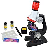 Soriace reg; Kinder Mikroskop Set, 100x 400x 1200x Wissenschaft Kinder Mikroskopie Kit Pädagogisch Mikroskop Kosmos für Früherziehung für Schüler und Kinder
