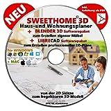 """Sweet Home 3D® Version 6.0 """"SWEET HOME 3D"""" NEU Haus-und Wohnungsplaner 3D Software Premium PLUS= BLENDER und LIBRE-CAD -"""