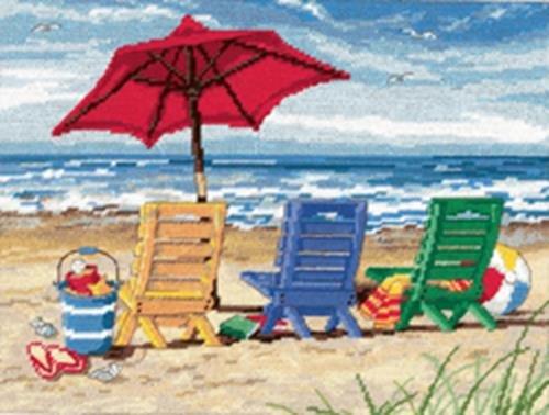 Dimensions alfiletero Set, Beach Chair Trio