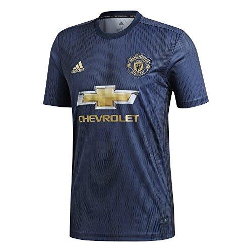 adidas Camiseta Manchester United FC Tercera Equipación 2018-2019 Collegiate navy-Night navy-Matte gold Talla M