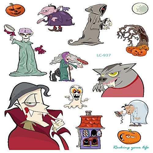 3Pcs-umwelt wasserdichte Halloween Requisiten Tattoo Aufkleber Urlaub Atmosphäre lustige Karneval Party Gesicht Aufkleber Tattoo 3Pcs-3
