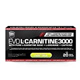 HSN Sports Carnitina Líquida – Evo L-Carnitine 3000 - Pérdida de Peso - Sabor Limón - 20 Viales