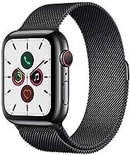 Apple Watch Series 5 (GPS+Cellular, 44 mm) Cassa in Acciaio Inossidabile Nero Siderale e Loop in Maglia Mila