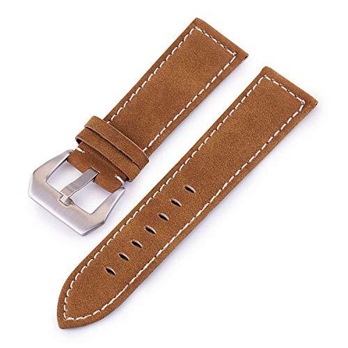 Auspiciousi Lederarmband Männer Frauen Uhrenarmband 18 Mm 20   Mm 22 Mm 24 Mm Armbanduhr Armband Schwarz Rot Blau Uhrenarmbänder Armband Metallschnalle -