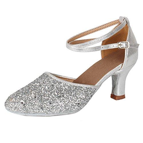 SWDZM Zapatillas de Baile Para Mujer/Zapatillas de Baile Latino Estándar Salón de Baile Modelo 39EU...