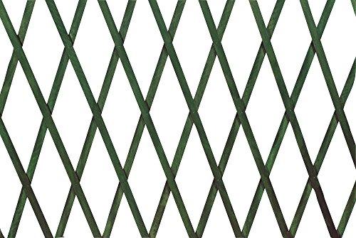 Verdelook traliccio estensibile in legno verde dimensioni 100x300, decorazioni terrazza