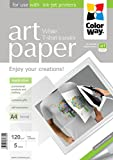 ColorWay PTW120005A4 - Carta fotografica copiativa per t-shirt, colore: bianco, helle textilien