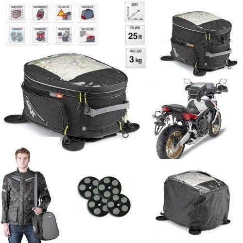 ph Speed Four 600 Tasche GIVI EA102B 25LT ZAINO FÜR Motorrad ATTACCO UNIVERSAL MIT Magnete UND CINGHIE 170>270 X 370 X 280 MM ()