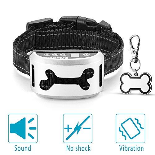 UKTUNU Collare Antiabbaio Cani di con la Funzione di Vibrazione del Suono per i Cani di Tutti Collare Ricaricabile di addestramento