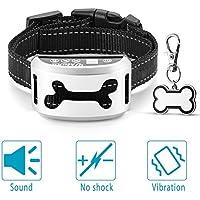 UKTUNU Collar Anti-Ladridos para Perros Collar de Entrenamiento de Perro Recargable con función de vibración de Sonido para Perros