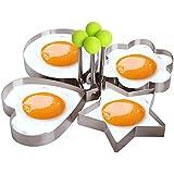 Moldes para freír huevos, Rasse® 5pcs un Set Huevo molde con forma de huevo para tortitas de huevo anillo moldes huevo molde molde cocina utensilios de cocina de acero inoxidable